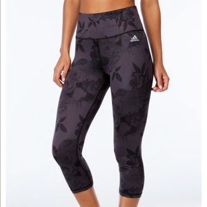 Floral adidas cropped leggings, M